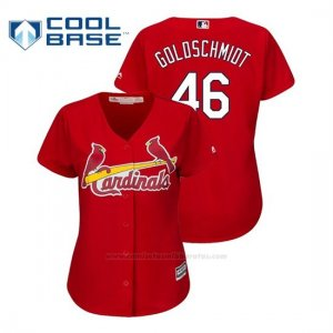 Camiseta Beisbol Mujer St. Louis Cardinals Paul Goldschmidt Cool Base Majestic Alternato Rojo