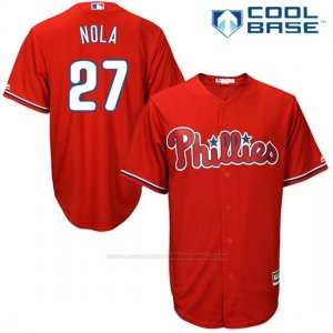 Camiseta Beisbol Hombre Philadelphia Phillies Aaron Nola Rojo Cool Base