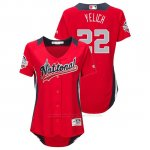 Camiseta Beisbol Mujer All Star Game Christian Yelich 2018 1ª Run Derby National League Rojo