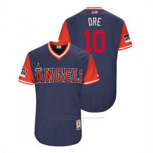 Camiseta Beisbol Hombre Los Angeles Angels Jose Briceno 2018 Llws Players Weekend Ore Azul