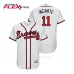 Camiseta Beisbol Hombre Atlanta Braves Ender Inciarte Flex Base Autentico Collezione Home 2019 Blanco
