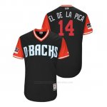 Camiseta Beisbol Hombre Arizona Diamondbacks Eduardo Escobar 2018 Llws Players Weekend El De La Pica Negro