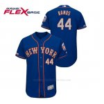 Camiseta Beisbol Hombre New York Mets A.j. Ramos 150th Aniversario Patch Autentico Flex Base Azul