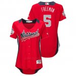 Camiseta Beisbol Mujer All Star Game Freddie Freeman 2018 1ª Run Derby National League Rojo