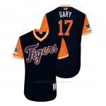 Camiseta Beisbol Hombre Detroit Tigers Grisson Greiner 2018 Llws Players Weekend Gary Azul