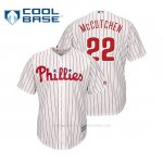 Camiseta Beisbol Hombre Philadelphia Phillies Andrew Mccutchen Cool Base Official Home Blanco