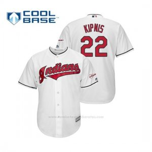 Camiseta Beisbol Hombre Cleveland Indians Jason Kipnis 2019 All Star Game Patch Cool Base Blanco