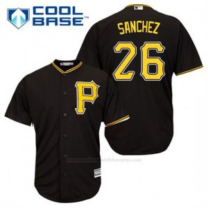 Camiseta Beisbol Hombre Pittsburgh Pirates Tony Sanchez 26 Negro Alterno Cool Base