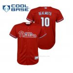 Camiseta Beisbol Nino Philadelphia Phillies J.t. Realmuto Cool Base Replica Alternato Rojo
