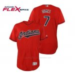 Camiseta Beisbol Hombre Cleveland Indians Yan Gomes Flex Base Autentico Collection Alternato 2019 Rojo