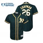 Camiseta Beisbol Nino Oakland Athletics Matt Chapman Cool Base Alternato Green