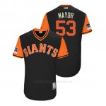 Camiseta Beisbol Hombre San Francisco Giants Austin Slater 2018 Llws Players Weekend Mayor Negro