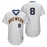 Camiseta Beisbol Hombre Milwaukee Brewers Ryan Braun Blanco 1982 Turn Back The Clock