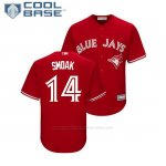 Camiseta Beisbol Nino Toronto Blue Jays Justin Smoak Cool Base Replica Scarlet