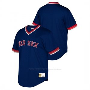 Camiseta Beisbol Nino Boston Red Sox Cooperstown Collection Mesh Wordmark V-Neck Azul