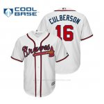 Camiseta Beisbol Hombre Atlanta Braves Charlie Culberson Cool Base Official 1ª Blanco