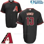 Camiseta Beisbol Hombre Arizona Diamondbacks 13 Nick Ahmed Negro Cool Base