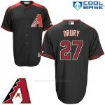 Camiseta Beisbol Hombre Arizona Diamondbacks 27 Brandon Drury Negro Cool Base