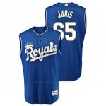 Camiseta Beisbol Hombre Kansas City Royals Jakob Junis Throwback Turn Ahead Azul
