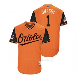 Camiseta Beisbol Hombre Baltimore Orioles Tim Beckham 2018 Llws Players Weekend Swaggy Orange