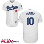 Camiseta Beisbol Hombre Los Angeles Dodgers 11 Justin Turner Blanco 2017 Flex Base
