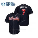 Camiseta Beisbol Hombre Atlanta Braves Dansby Swanson Cool Base Alternato 2019 Azul