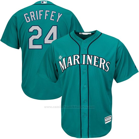 1ce8c1b6a3 Camiseta Beisbol Hombre Seattle Mariners Ken Griffey Jr Crema Replica Jugador.jpg